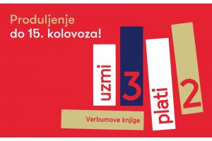 """Verbumova ljetna akcija """"Uzmi 3, plati 2"""" produljena do 15. kolovoza u svim knjižarama Verbum!"""