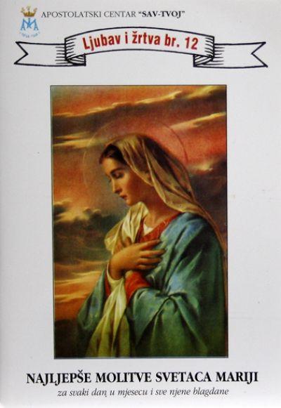 Najljepše molitve svetaca Mariji