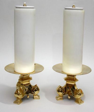 Svijećnjaci sa parafinskim svijećama - par
