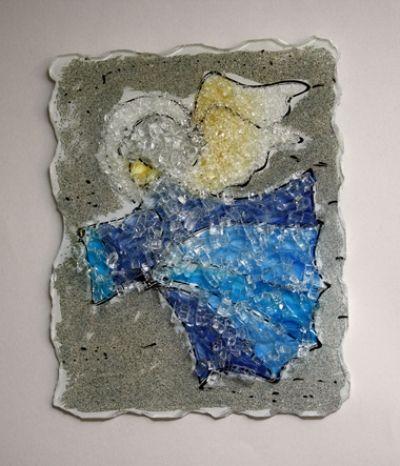 Anđeo - mozaik staklo
