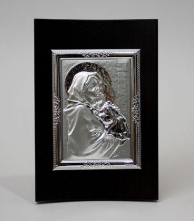 Gospa s djetetom - reljef od srebra