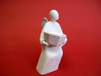 Vjerni anđeo - keramički svijećnjak (16,5 cm)