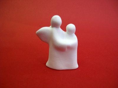 Anđeo čuvar - keramička figura (8 cm)