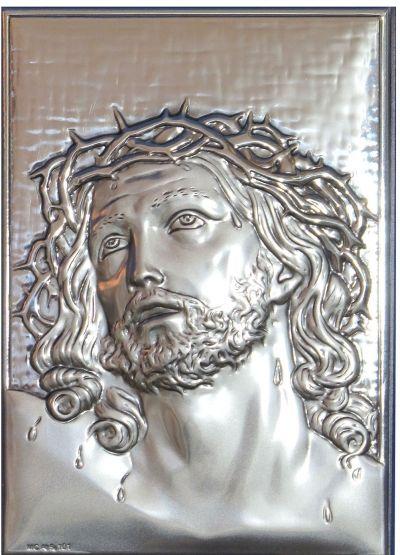 Isus Krist - slika srebro