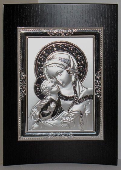Gospa s djetetom - slika srebro