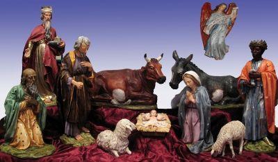 Božićne jaslice - Isus u kolijevci