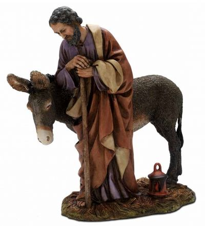 Božićne jaslice - Josip s magarcem - 20 cm