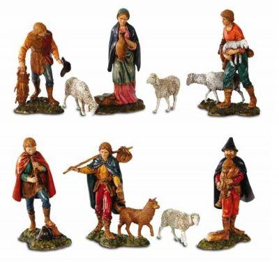 Božićne jaslice - 6 pastira - 11 cm