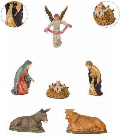 Božićne jaslice - komplet 6 figura - 12 cm