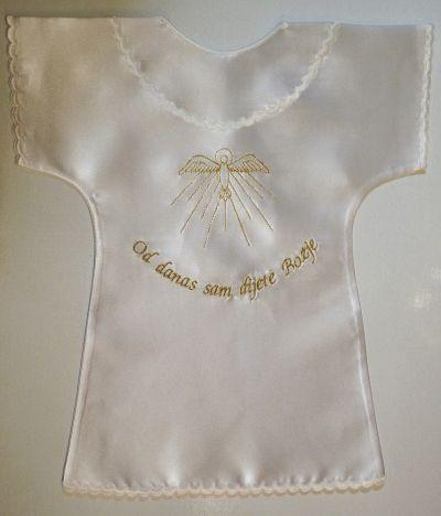 Košuljica za krštenje - zlatno vezena
