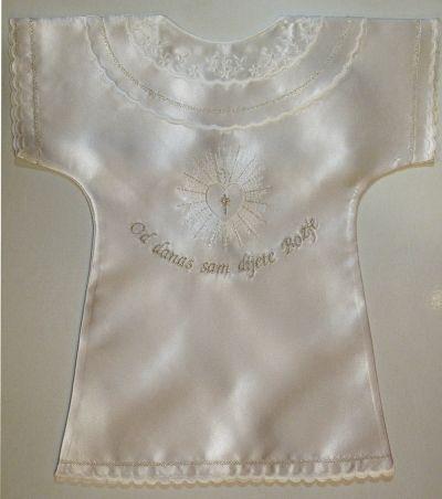 Košuljica za krštenje - srebreno vezena