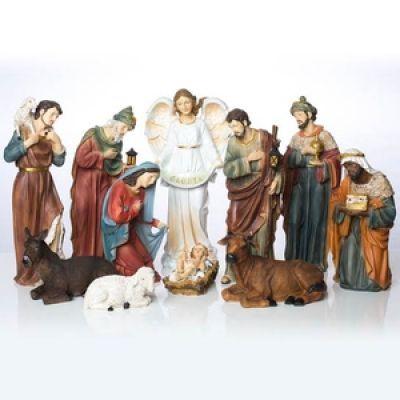 Božićne jaslice - komplet 11 figura - 40 cm
