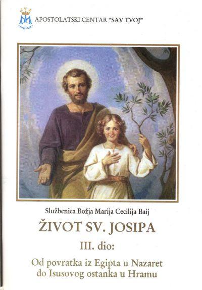 Život sv. Josipa - 3. dio