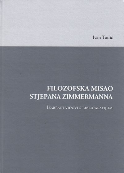 Filozofska misao Stjepana Zimmermanna