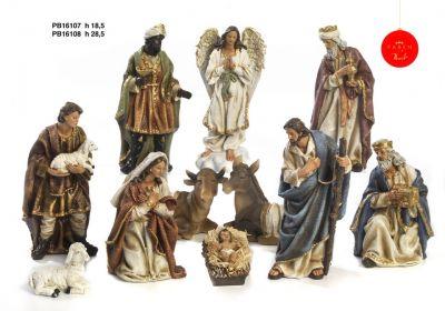 Božićne jaslice - komplet 11 figura - 18,5 cm