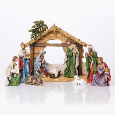 Božićne jaslice - komplet 9 figura - 15 cm
