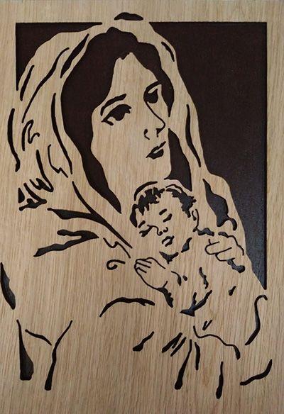 Slika - Gospa u drvu