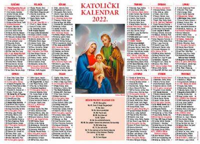 Katolički kalendar 2022. - jednolisni