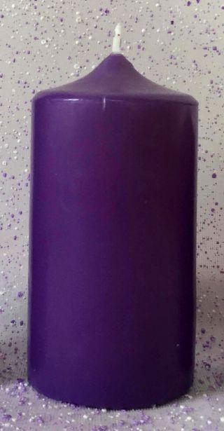 Svijeća ljubičasta - Torac 80x165 mm