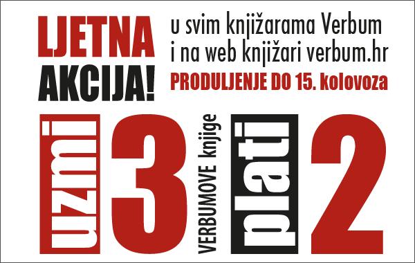 """Verbumova velika akcija """"Uzmi 3 - plati 2"""" produljena do 15. kolovoza!"""