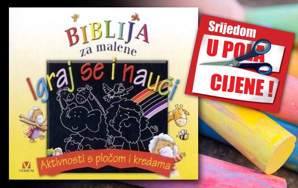 """""""Biblija za malene - Igraj se i nauči"""" 28. studenoga u pola cijene u Verbumu"""