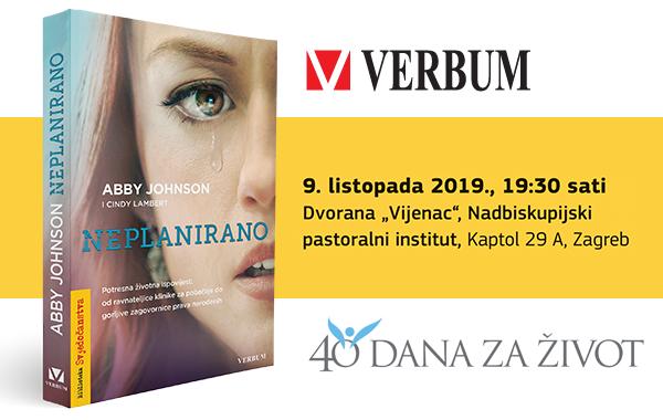 "Promocija pro-life bestselera ""Neplanirano"" u Zagrebu!"
