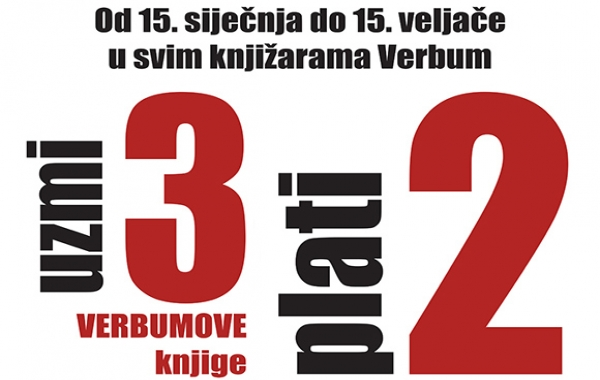 """U svim knjižarama Verbum počela je zimska akcija """"Uzmi 3,plati 2""""!"""