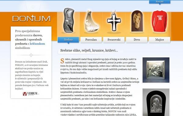 Posjetite specijaliziranu prodavaonicu Donum na novim web stranicama