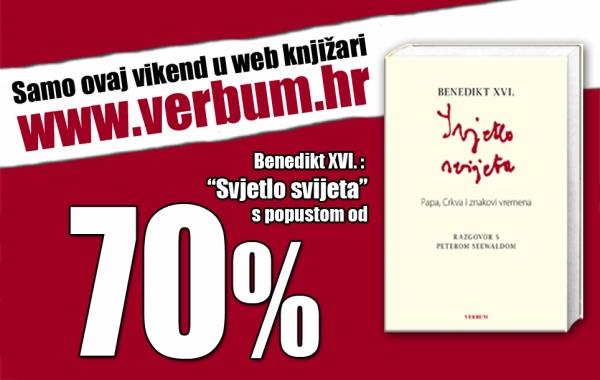 """Vikend akcija: """"Svjetlo svijeta"""" uz popust od 70 posto samo na Verbum.hr"""