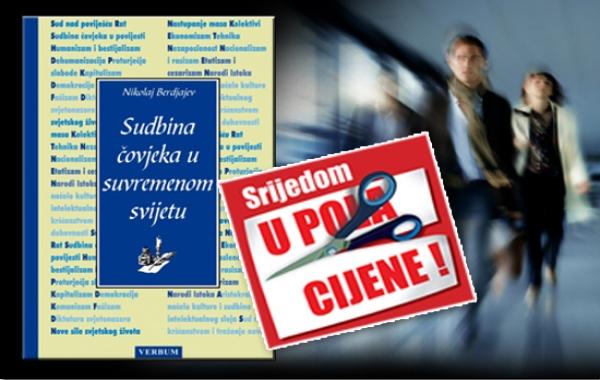 """""""Sudbina čovjeka u suvremenom svijetu"""" Nikolaja Berdjajeva 17. listopada dostupna u pola cijene u Verbumu"""