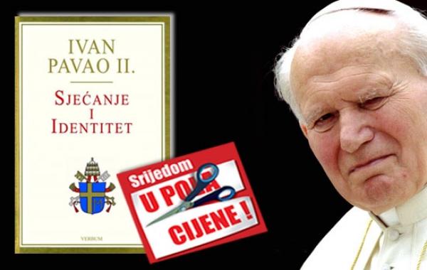 """Knjiga """"Sjećanje i identitet"""" Ivana Pavla II. 24. listopada dostupna u pola cijene u Verbumu"""