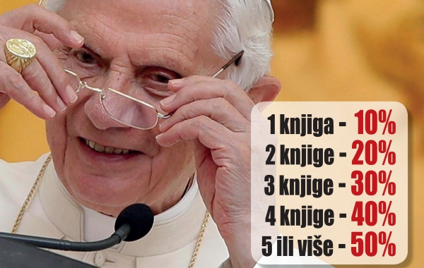 Prigodni popust na knjige Josepha Ratzingera – pape Benedikta XVI. samo u knjižarama Verbum