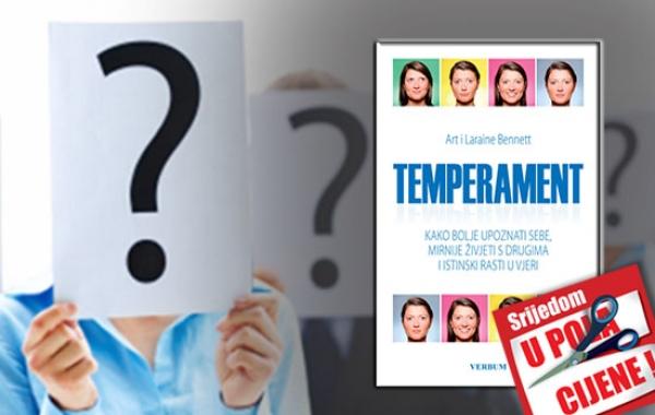 """Knjiga """"Temperament"""" 18. rujna u pola cijene u Verbumu"""