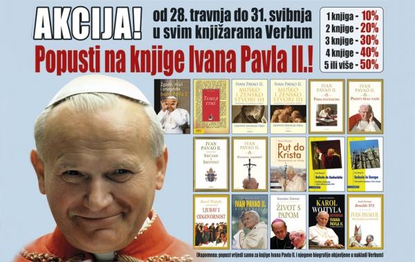 U tijeku je prigodna akcija na knjige Ivana Pavla II.