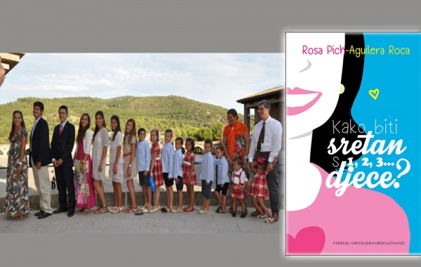 """Na konferenciji za medije predstavljena knjiga """"Kako biti sretan s 1,2,3… djece?"""" Rose Pich-Aguilera Roca"""