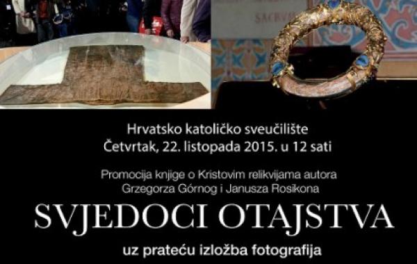 """Predstavljanje knjige """"Svjedoci otajstva"""" na Hrvatskom katoličkom sveučilištu u Zagrebu 22. listopada"""