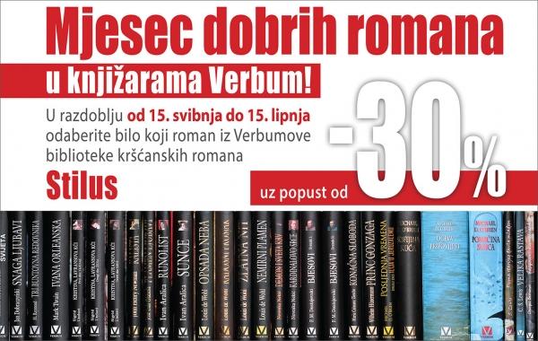 """Akcija """"Mjesec dobrih romana"""" u knjižarama Verbum se nastavlja do kraja lipnja!"""