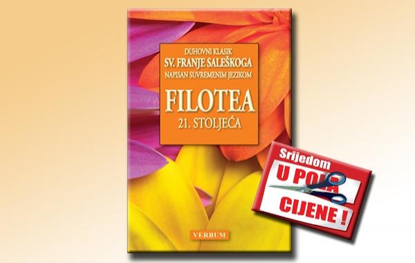 """""""Filotea 21. stoljeća"""" 16. kolovoza u pola cijene u knjižarama Verbum"""