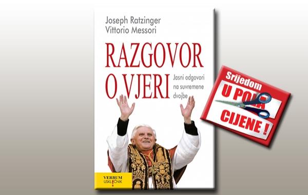 """""""Razgovor o vjeri"""" 20. rujna u pola cijene u svim knjižarama Verbum"""