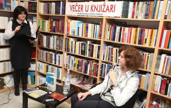 """Helena Peričić gostovala na """"Večeri u knjižari"""" 30. ožujka u knjižari Verbum u Zadru"""