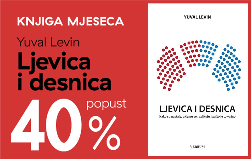 "Knjiga ""Ljevica i desnica"" Yuvala Levina uz 40% popusta za članove kluba Verbum!"