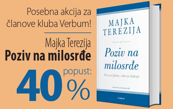 """""""Majka Terezija - Poziv na milosrđe"""" uz 40% popusta za članove kluba Verbum i partnere!"""